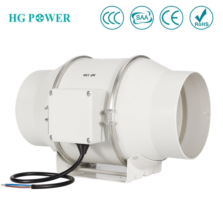 6 150mm High Efficiency Inline Duct Fan Exhaust Fan Mixed