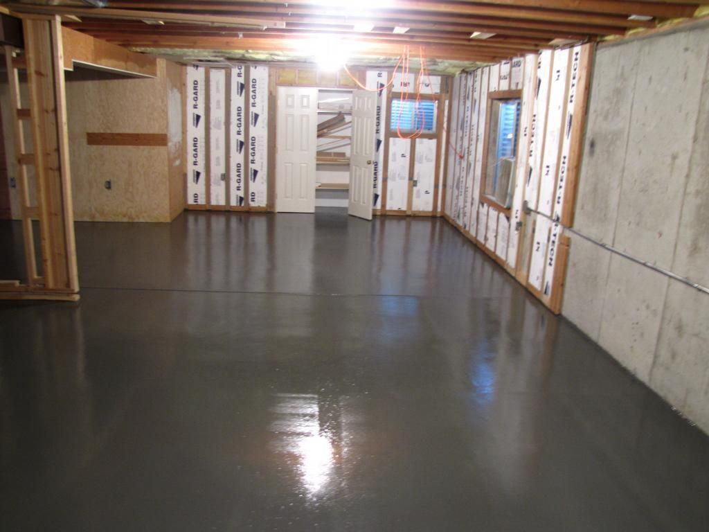 Dark Painted Concrete Floor   Google Search