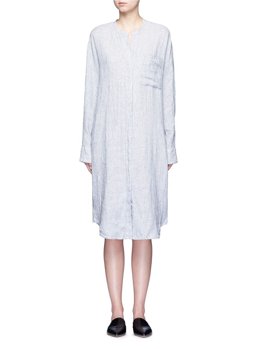 5430eadc08 JAMES PERSE Stripe dolman sleeve linen shirt dress.  jamesperse  cloth   dress
