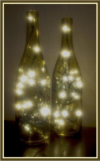 Um.... getting two.   One Lighted Wine Bottle Wine Bottle Lamp Bar Light by DazzleMePink, via Etsy.