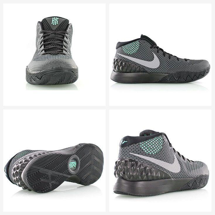 nike kyrie 1 driveway black reflective silver dark grey green glow