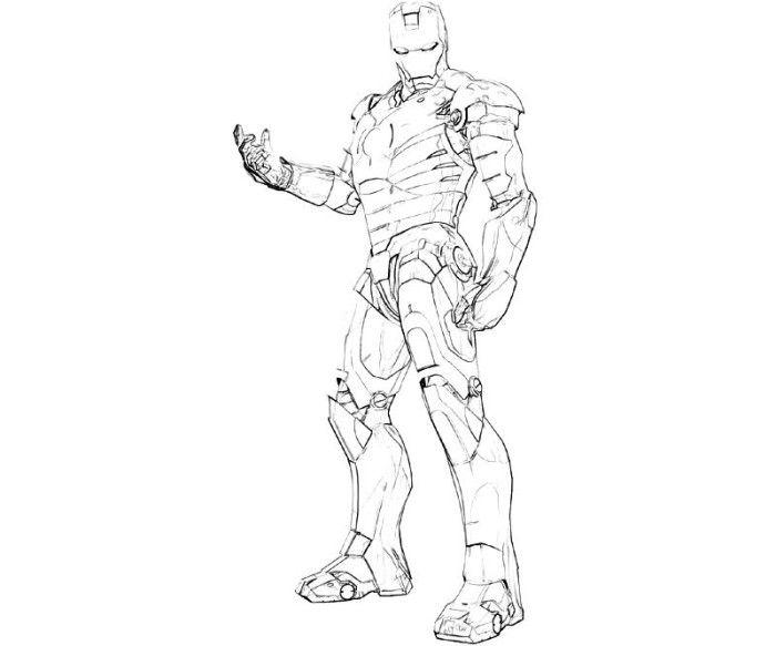Free Download-Iron Man sketch,http://colorasketch.com/free ...