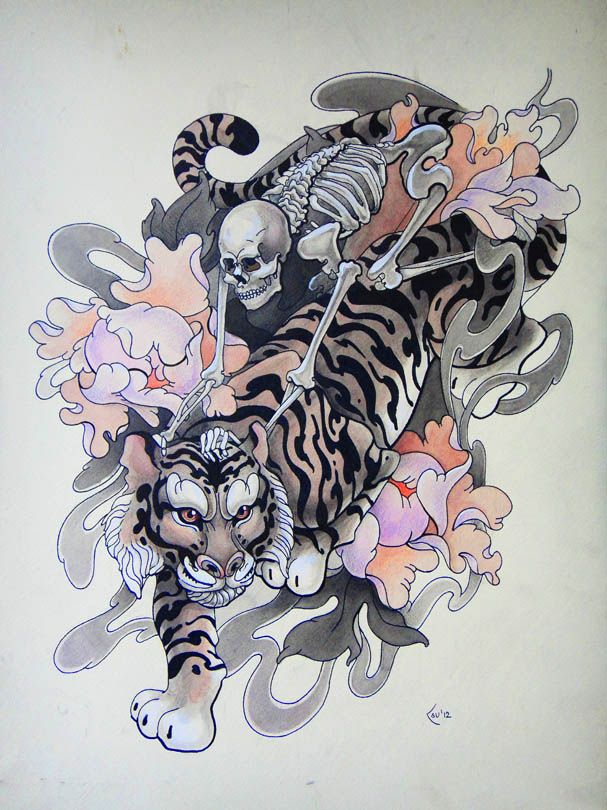 Tattoo Design Riders By Xenija88 On Deviantart Japanese Tattoo Japanese Tiger Tattoo Sketches