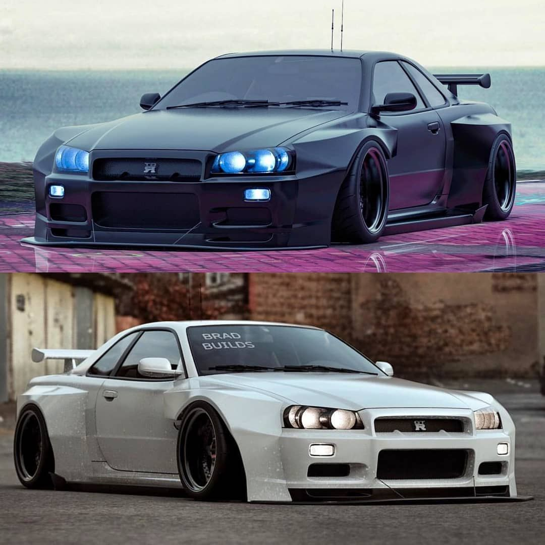 Black Or White GTR? Built By @bradbuilds (With Images