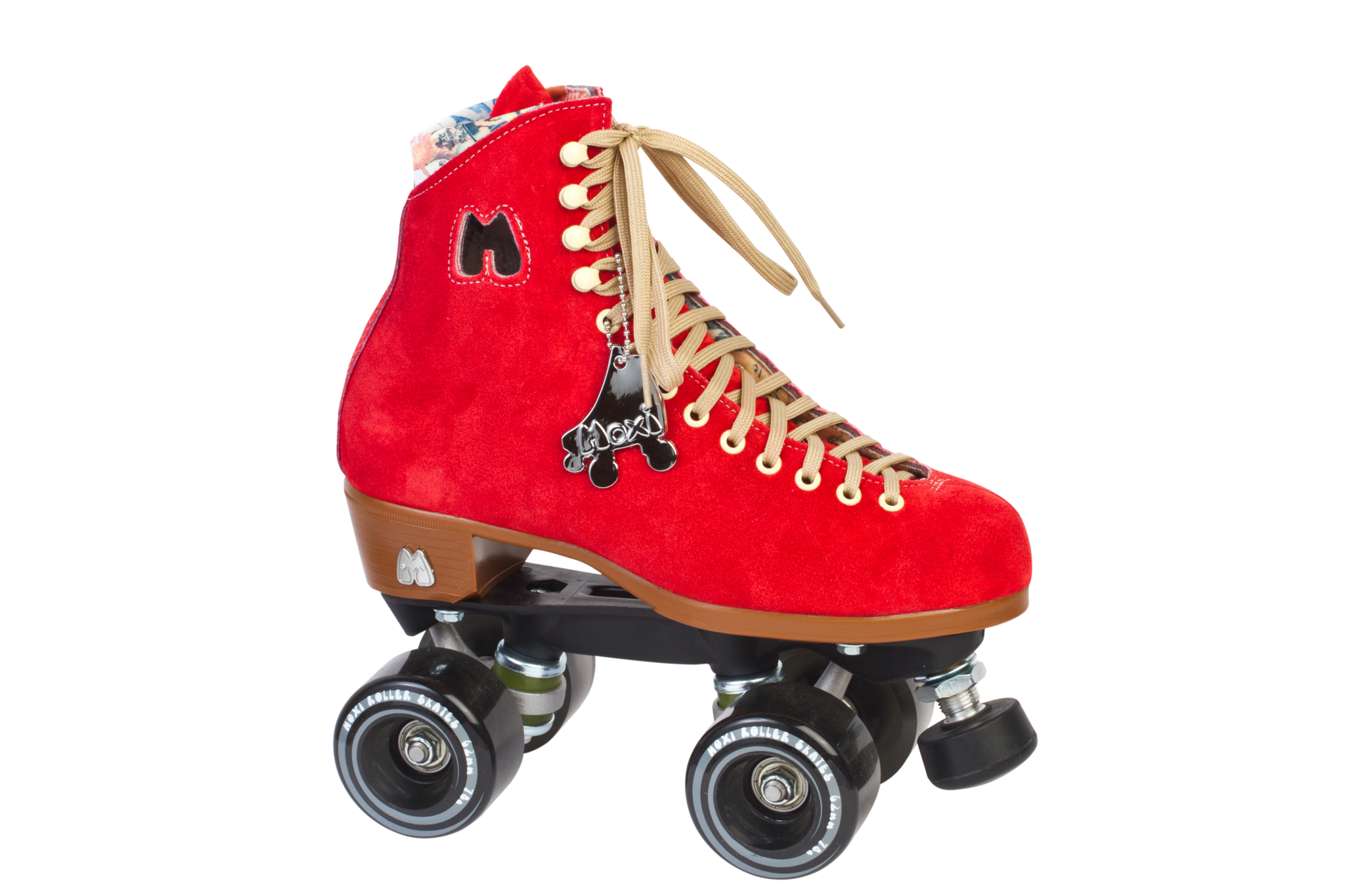 Lolly Outdoor Complete Poppy Red Roller Skates Quad Roller Skates Soft Leather Boots