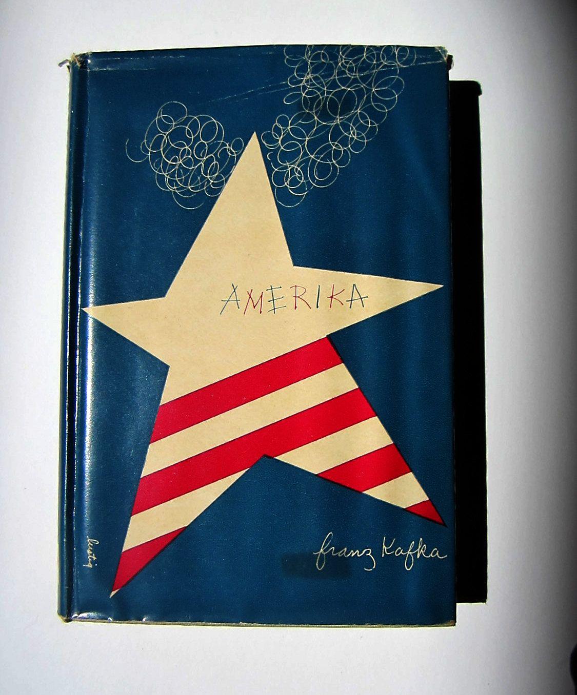 Alvin Lustig Design - Amerika by Franz  Kafka. $50.00, via Etsy.