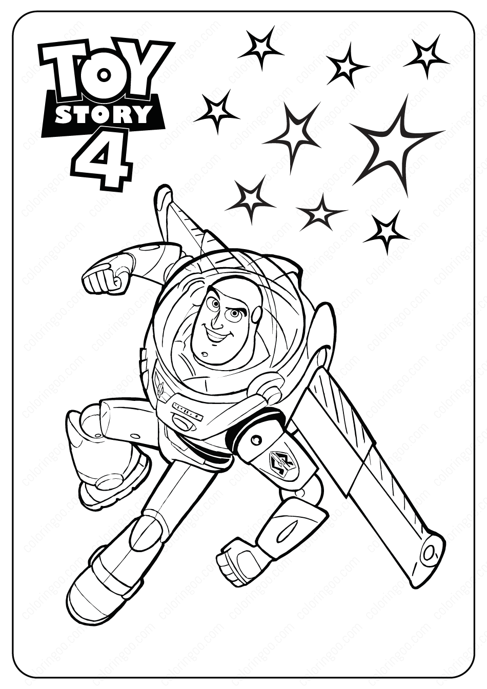 Toy Story 4 Buzz Pdf Coloring Pages Toy Story Coloring Pages Disney Coloring Pages Coloring Books