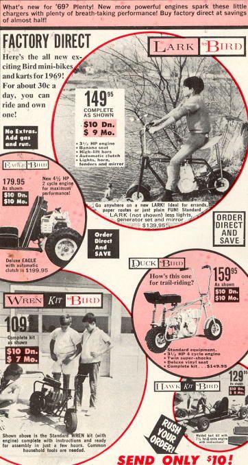 Bird Mini Bikes Advertisement Mini Bikes Mini Bike Bike Cool Bikes