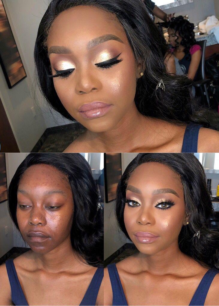 Natural simple wedding makeup for black women Simple