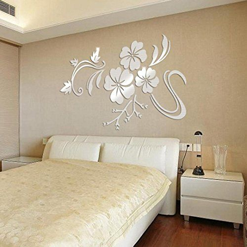 Marrikey 3d diy removable wall sticker with art sliver mi https
