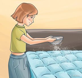 Derrama bicarbonato de sodio sobre tu colchón y mira lo que sucederá