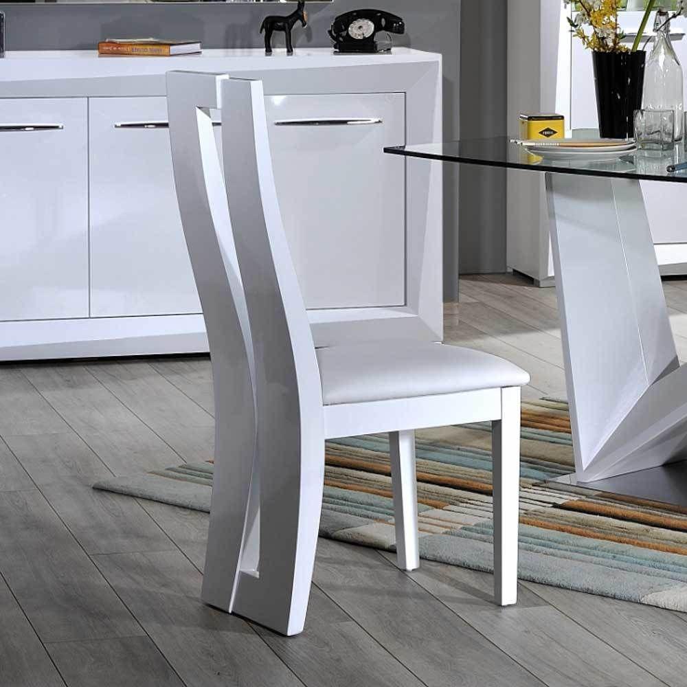 Esstischstuhl in Weiß mit hoher Lehne (2er Set) Jetzt bestellen ...