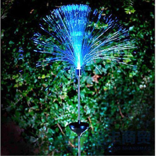 2 Pcs Color Changing Solar Spray Fiber Optic Party Light 31 99 Features One Change Led Bulb Included Auto Sensor Switches On And
