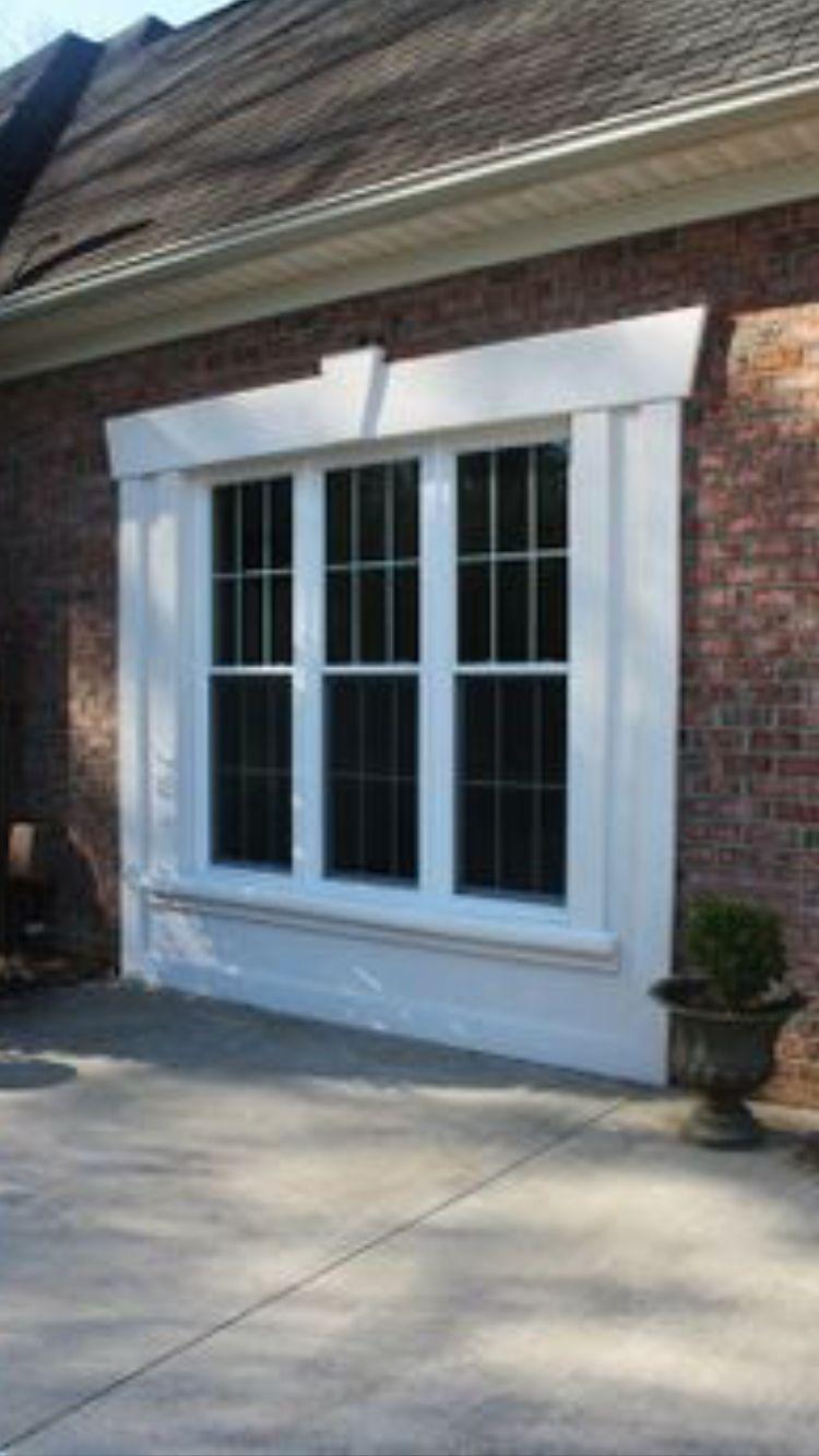 Garage Door To Window Conversion Garage Bedroom Garage Doors Garage Decor