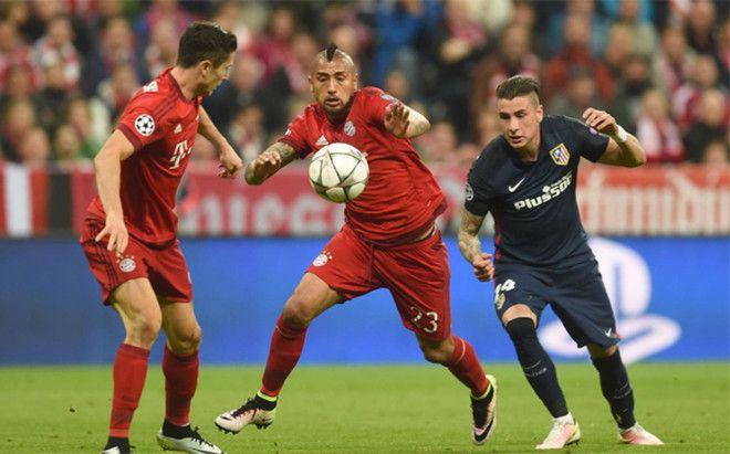 Arturo Vidal, en el duelo ante el Atlético