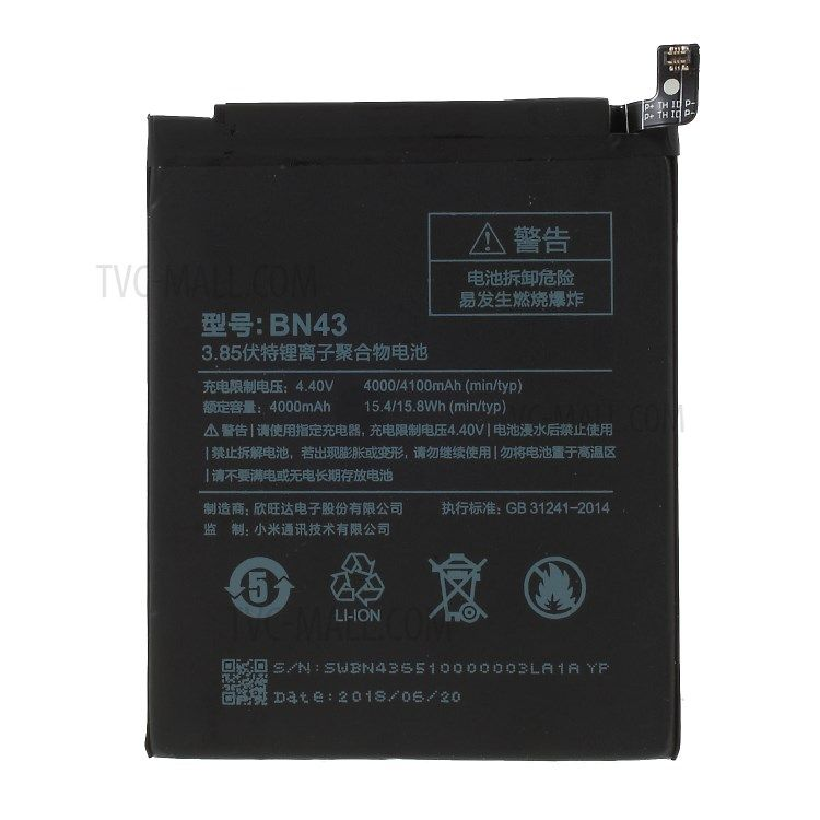 Purchased Oem For Xiaomi Redmi Note 4x Battery Replacement Bn43 4100mah 3 85v Phone Accessories Wholesale Xiaomi Cell Phone Accessories