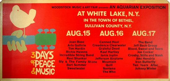 rare woodstock 1969 poster woodstock