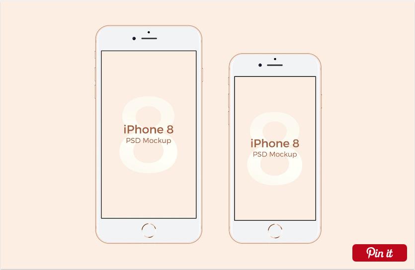 Free Iphone 8 Psd Mockup Iphone Free Iphone Iphone Design