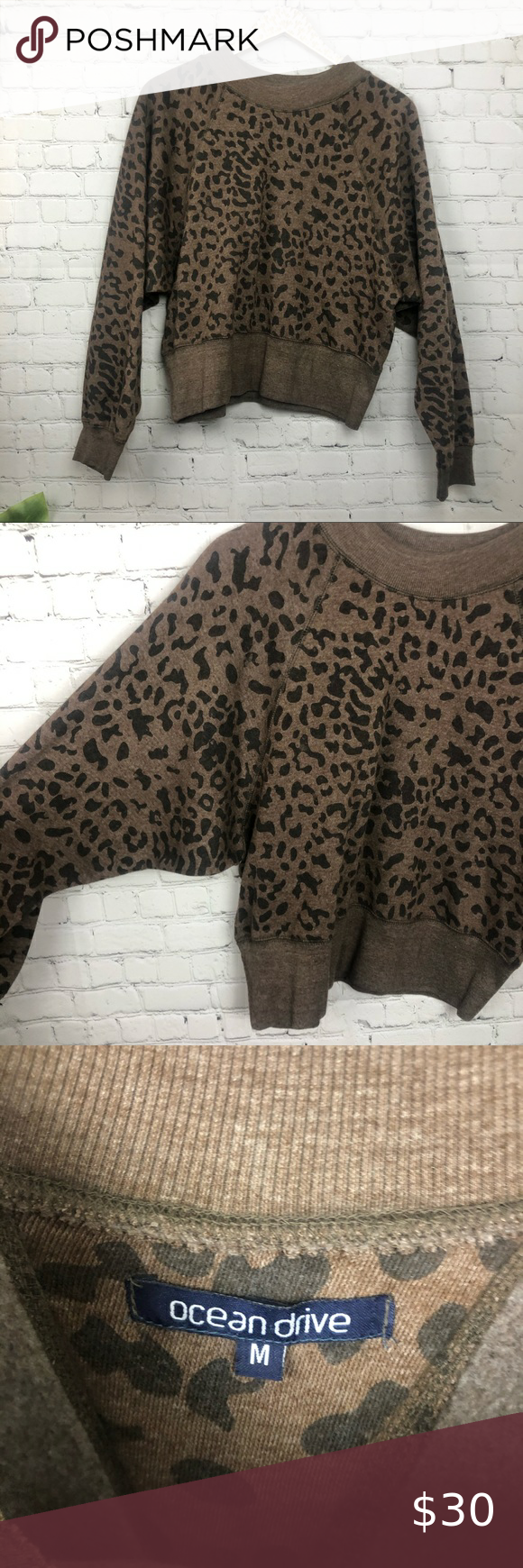Ocean Drive Leopard Crewneck Size Medium Ocean Drive Leopard Crewneck Size Medium Preloved Excellent Condition Clothes Design Cropped Style Ocean Drive [ 1740 x 580 Pixel ]