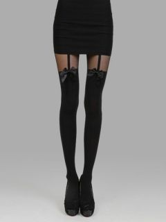Shop Black Tights With Bowknot from choies.com .Free shipping Worldwide.