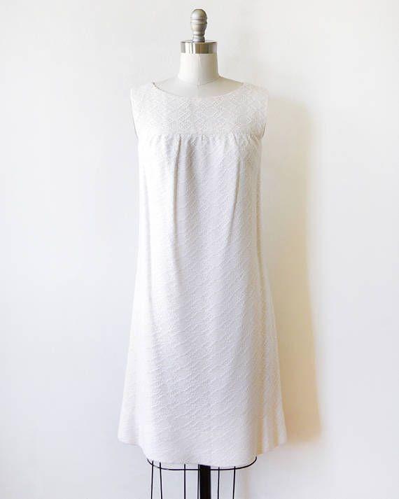 f530486fcf7 60s white crochet dress vintage 1960s mod mini dress a-line