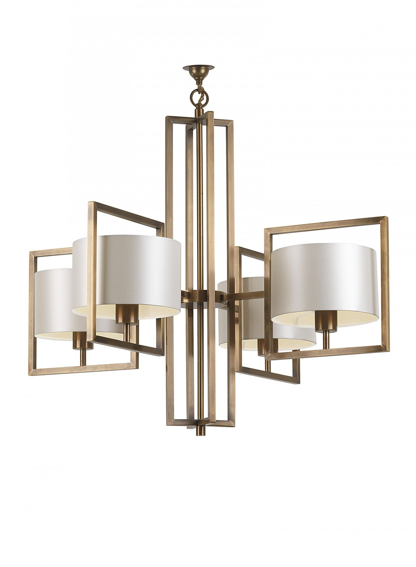 Knollwood 4 Light Antique Bronze Linear Chandelier with Vintage Brass Accents and Clear Glass Shades