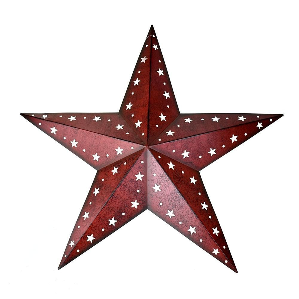 Large Metal Punch Out Star Wall Decor