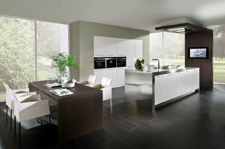 Luxe Design Keuken : Stijlvolle luxe designkeuken met rvs aanrechtblad mooie keukens