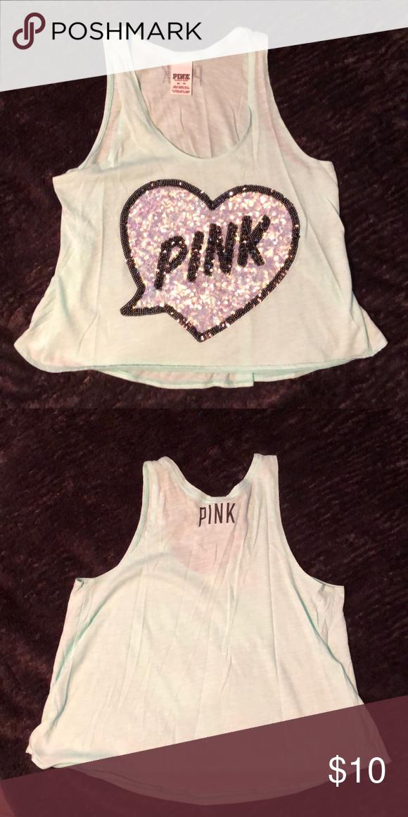e6f06a700bf6f Victoria Secret PINK tank top, teal, XS Victoria Secret PINK tank ...