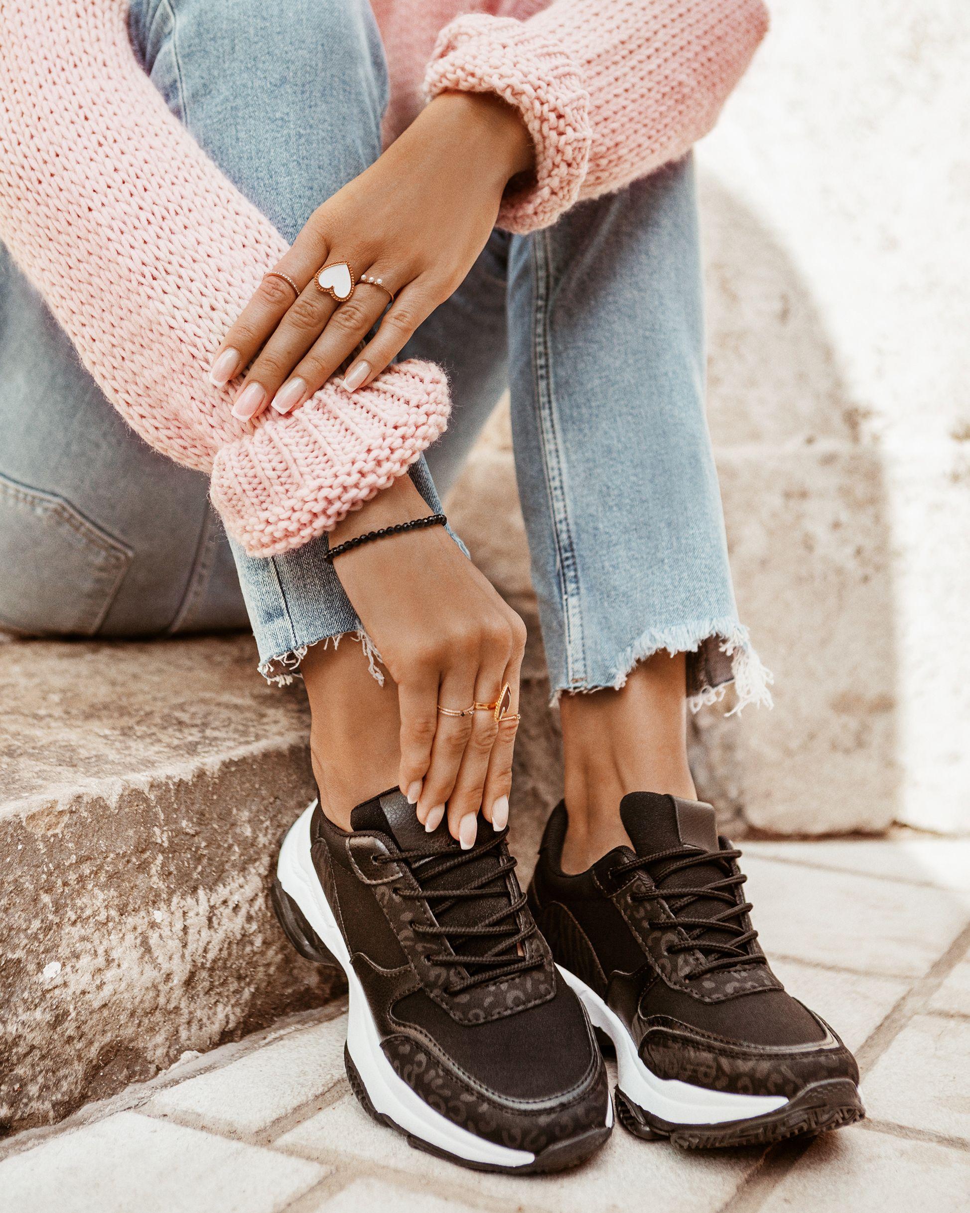 Czarne Sneakersy Louder W Sklepie Deezee Pl Black Sneakers Sneakers Sport Fashion