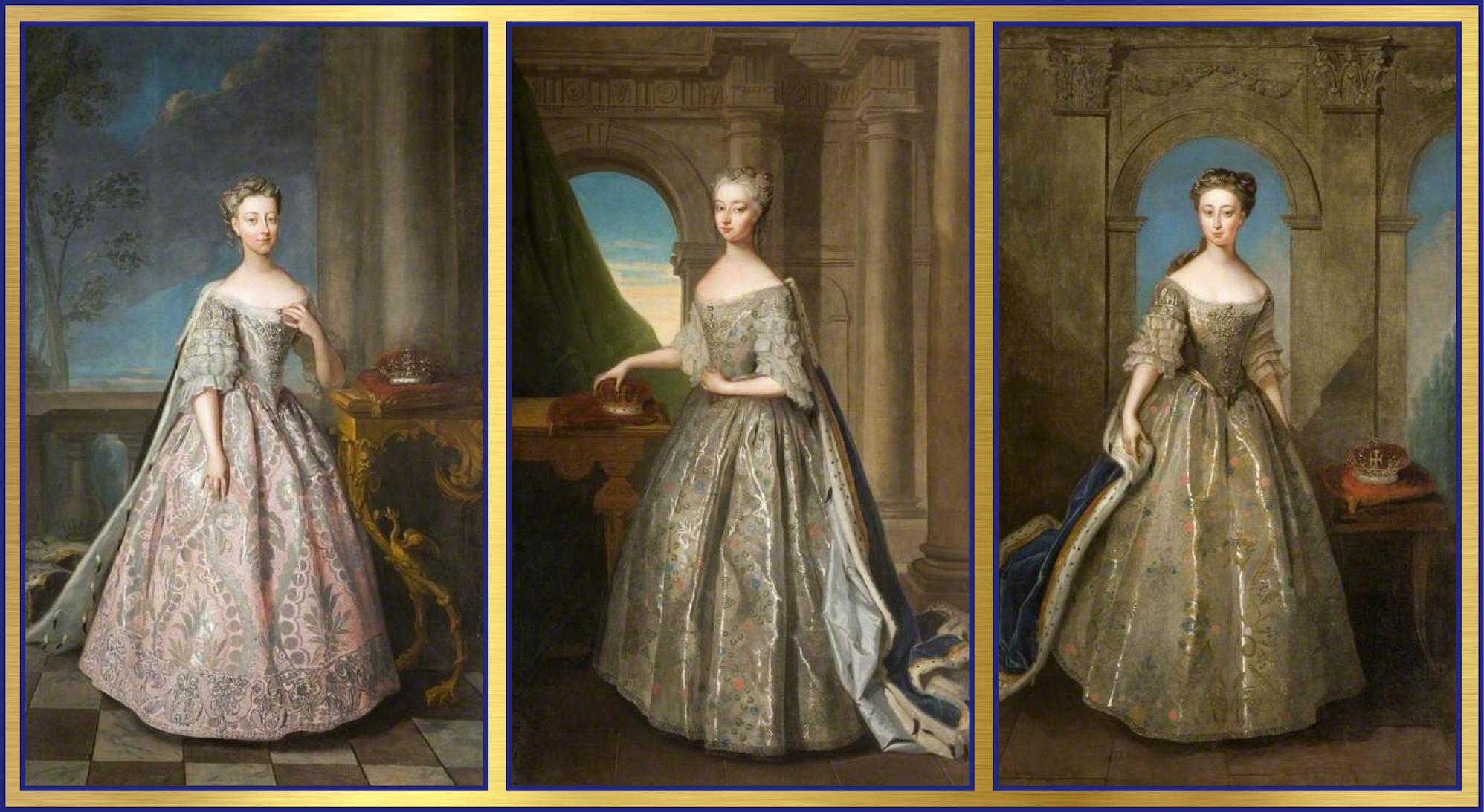 1728 Princess Amelia Sophia Princess Royal Anne And Princess Caroline Elizabeth By Philip Mercier 18th Century Fashion Princess Caroline Fashion