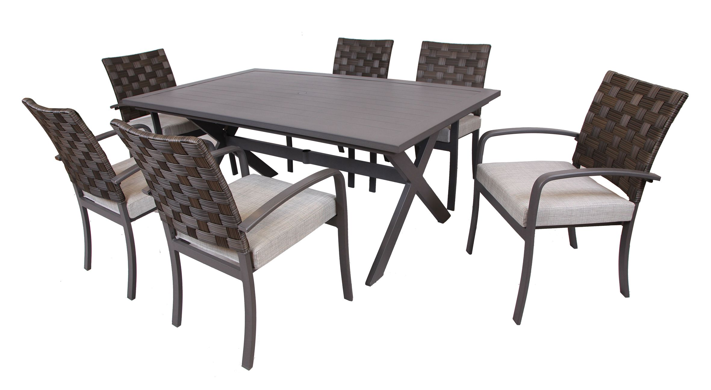 7 pc dining set 3i Northtown 7 Pc. Dining Set   BJ's Wholesale Club | Outdoor  7 pc dining set