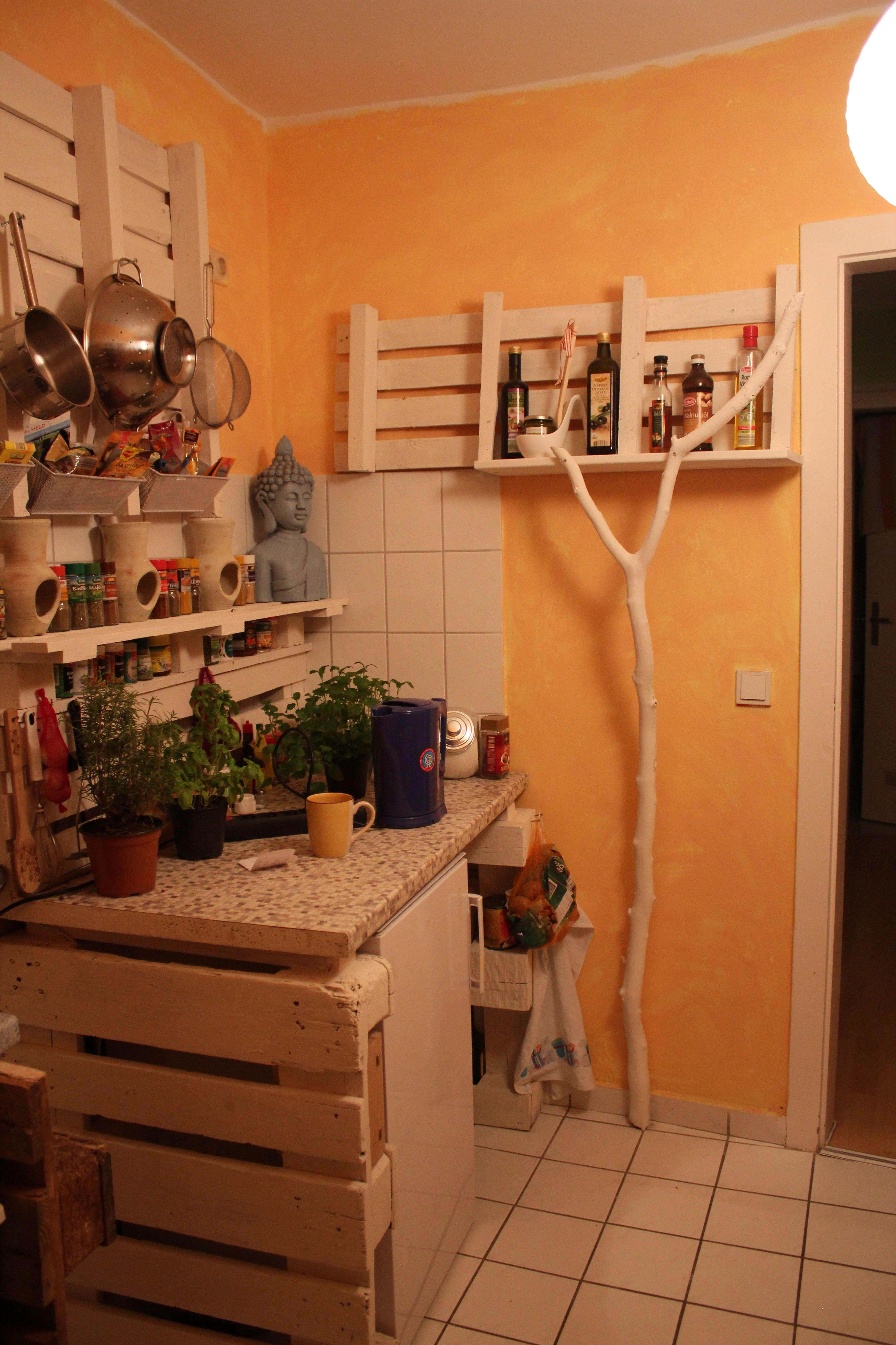 küche. gewürzregal aus gebrauchten paletten | möbelbau mit