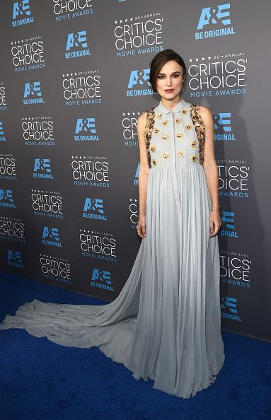 Keira Knightley wearing a #DelpozoFW14 gown to the Critics' Choice Awards yesterday evening in LA.