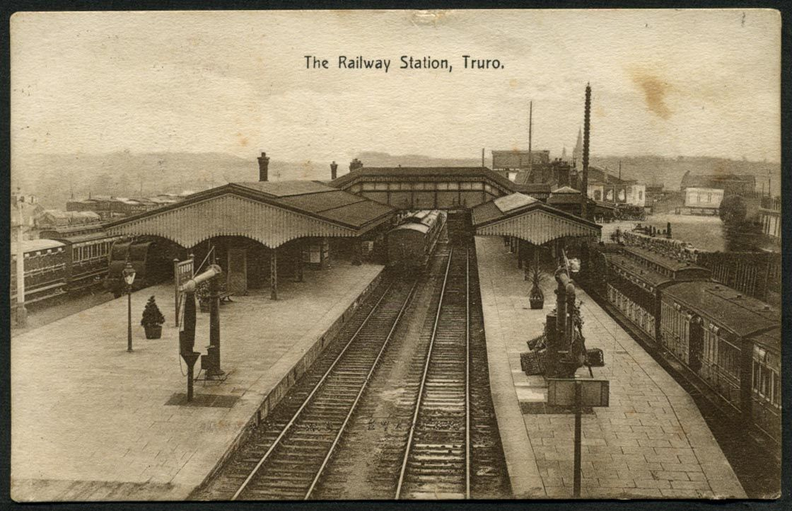 The Railway Station, Truro, 1912.   The Meeksown Series (not numbered)