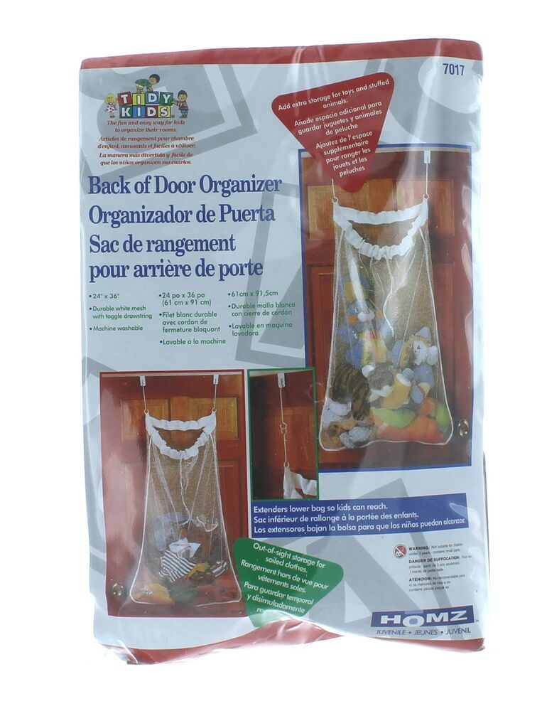 Over The Door Mesh Bag Toy Plush Storage Shoe Clothes Organizer