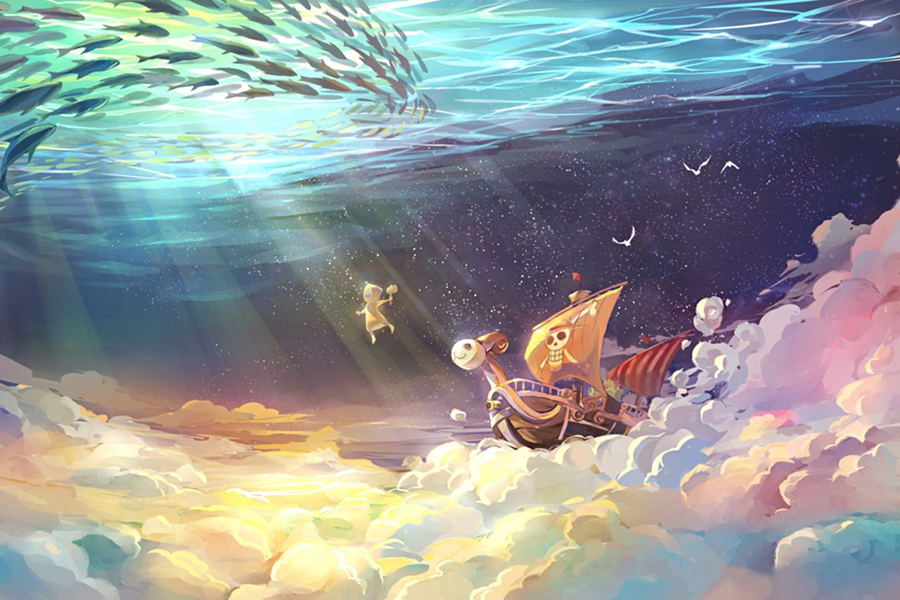 One Piece The Sunny under the ocean Wallpaper