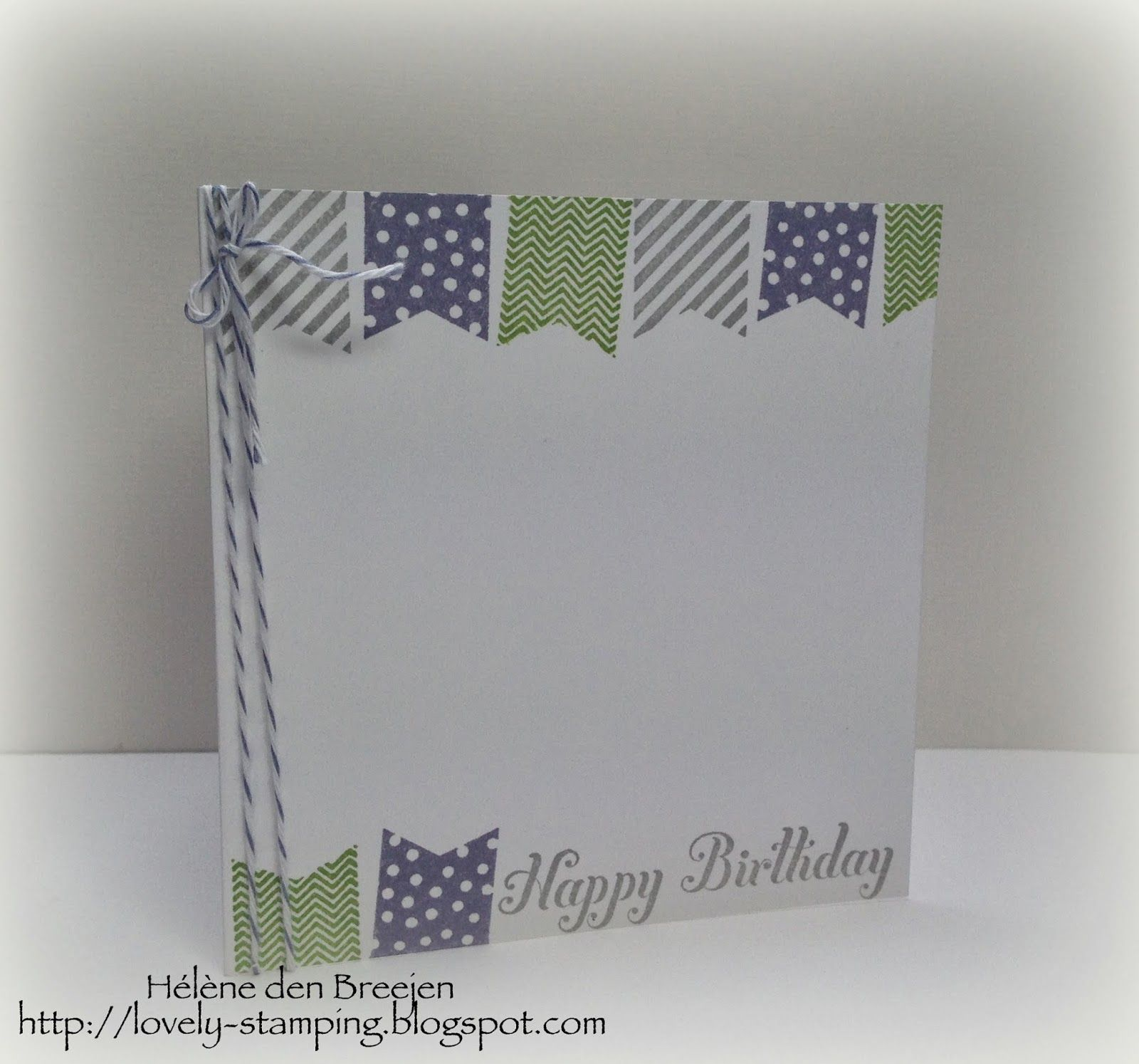 Lovely Stamping, Stampin'Up, Banner blast