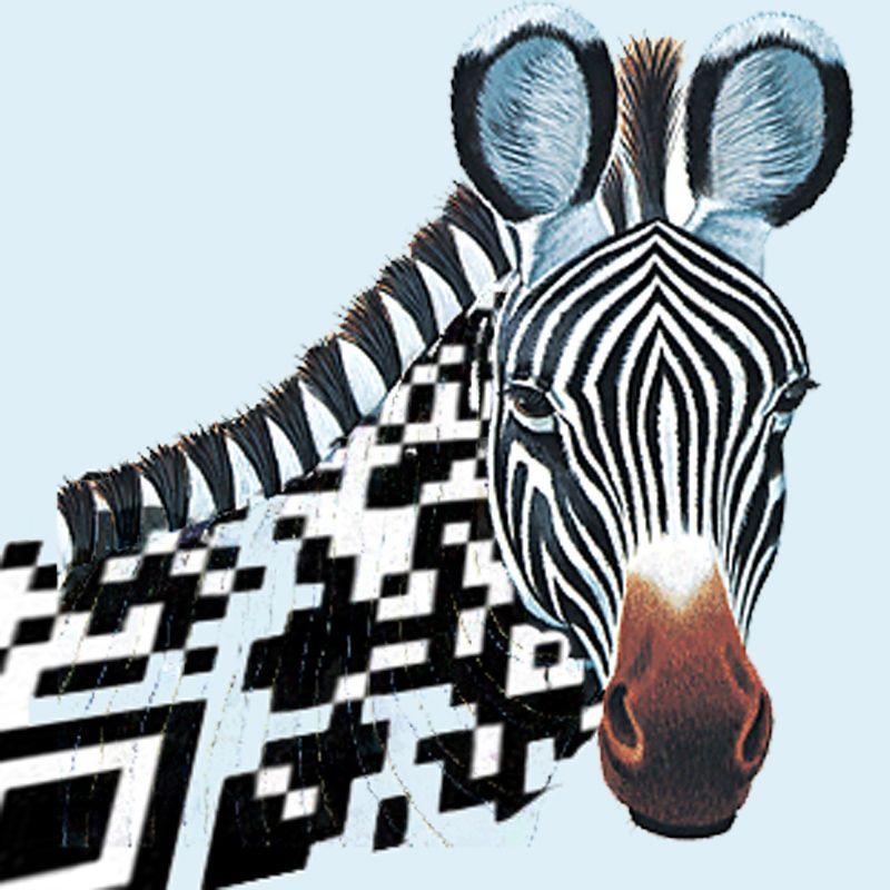 QR code Zebra    | QR Codes & Mobile Marketing | Barcode art