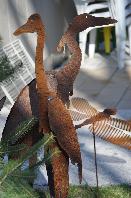 Metal Garden Art, Sculptured Heron Set of 2, unique gifts for women, unique gifts for men, yard art. $78.00, via Etsy.