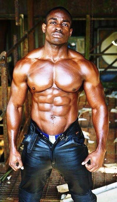 Ebony muscle men