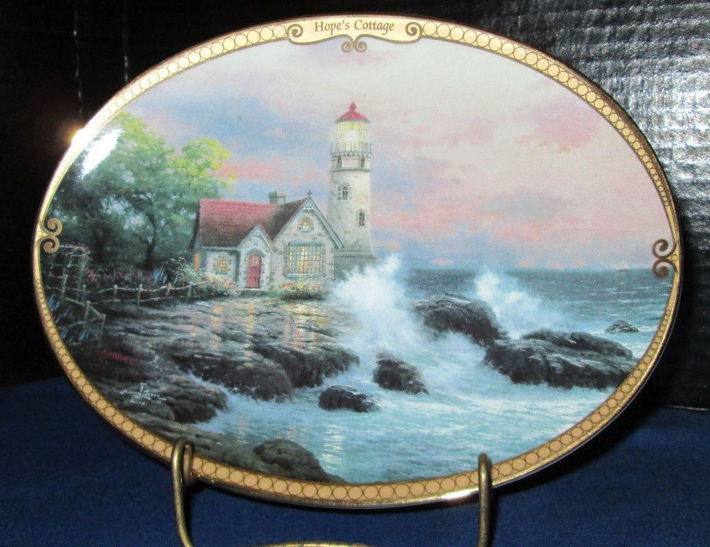 Hope s Cottage  Thomas Kinkade Collector Plate Scenes of Serenity & Hope