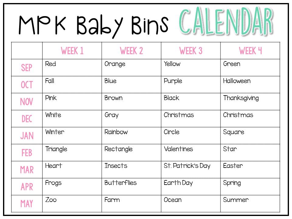 Baby Bins: Christmas {Week 1}   Tot school, Teaching ideas and ...