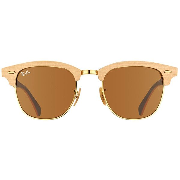 1ff3ae499af02 Ray-Ban Clubmaster Wood RB 3016M 1179 Maple Plastic Sunglasses - 51mm ( 218)