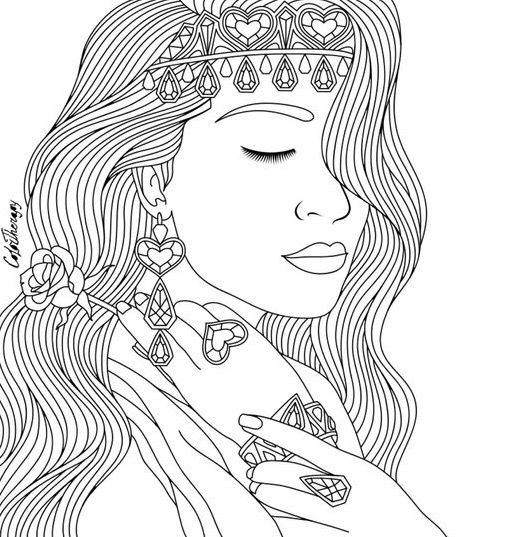 Pretty Lady Color Therapy App Try This App For Free Get