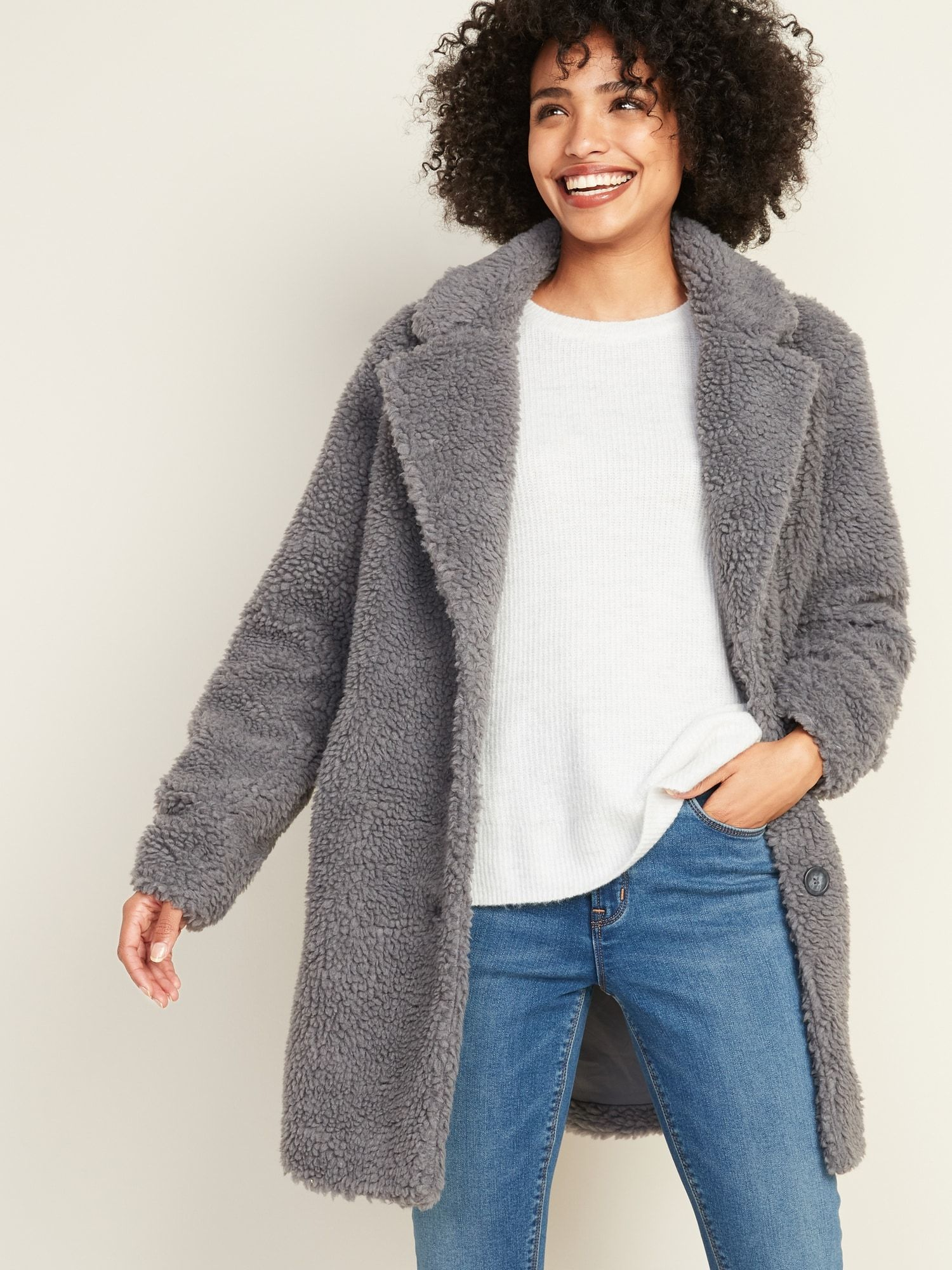 LongLine Sherpa Jacket for Women Old Navy Jackets for