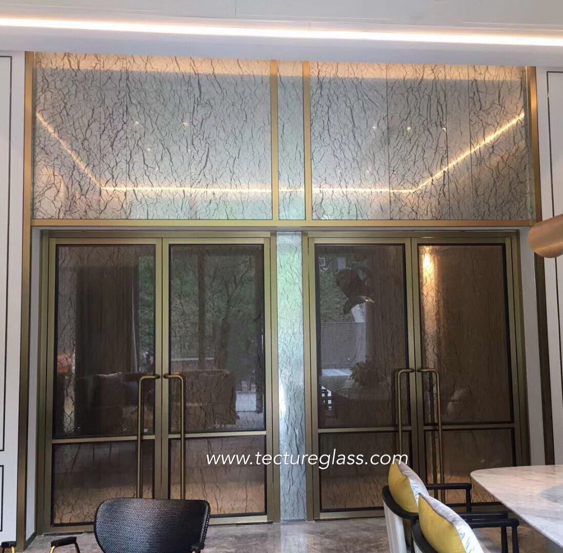 Textile Laminated Glass For Interiors Tecture Glass Laminated Glass Wall Cladding Glass Decor
