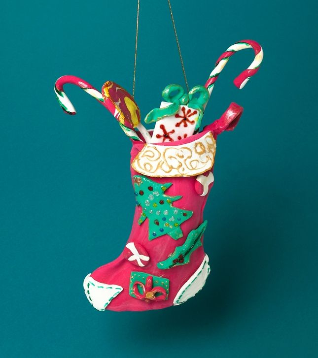 Christmas Stocking Craft Ideas Part - 48: Dress Up Your Doors With A Beautiful Christmas Stocking Made Of Crayola  Model Magic®!