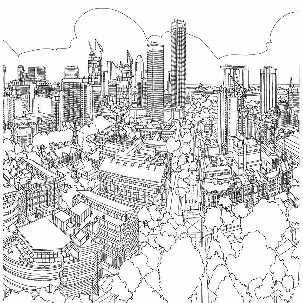 Leuk Voor Kids Steden En Gebouwen Kleurplaten Kleurplaat Voor Volwassenen Rotterdam Kleurboek Kleurplaten Kleurplaten Voor Volwassenen