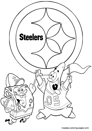 Spongebob Steelers To Color Spongebob Coloring Pages